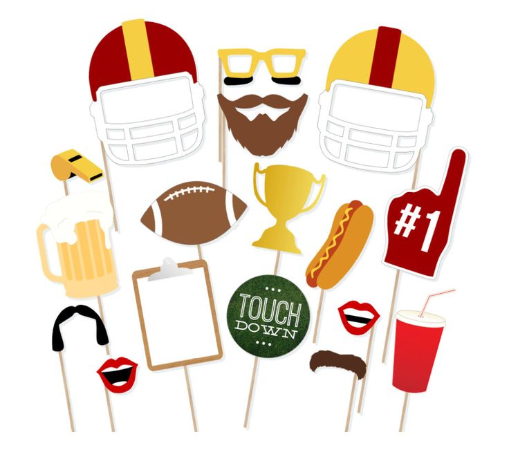 Printable Football Photo Booth Props - Instant Download Football Photobooth Props - Superbowl Party Prop - Football Party - Homecoming Party by PrintablePropShop on Etsy https://www.etsy.com/listing/235935873/printable-football-photo-booth-props