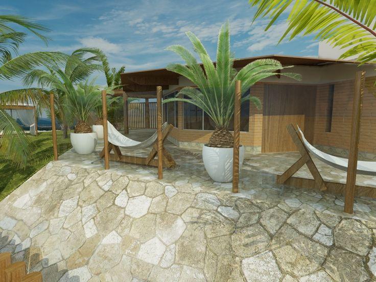 Terraza de la Casa Colán, vista en 3D Visítanos :Centro Comercial el Polo 2 - Tienda B - 204 (2do piso) Surco - Lima Telef.(51-1) 4351721 Cel. 944474374