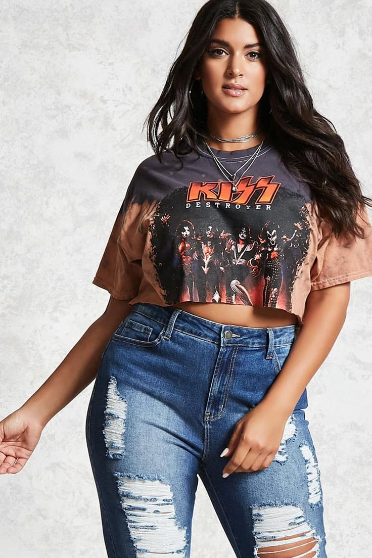 Forever 21+ - A pair of high-waisted jeans featuring distressed detailing throughout, a faded wash, five-pocket construction, frayed raw-cut hem, and a zip fly.