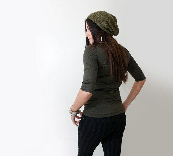 Women's Shirt Quarter Elbow Sleeve Long Top petite tall by LOFT415