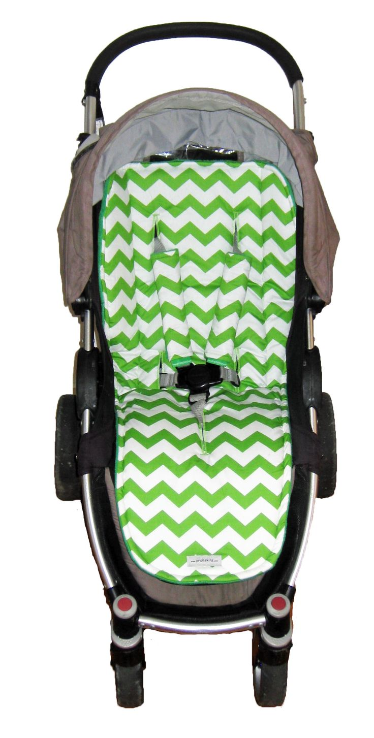 Apple Green Chevron universal fit Pramskin in Steelcraft Agile ....