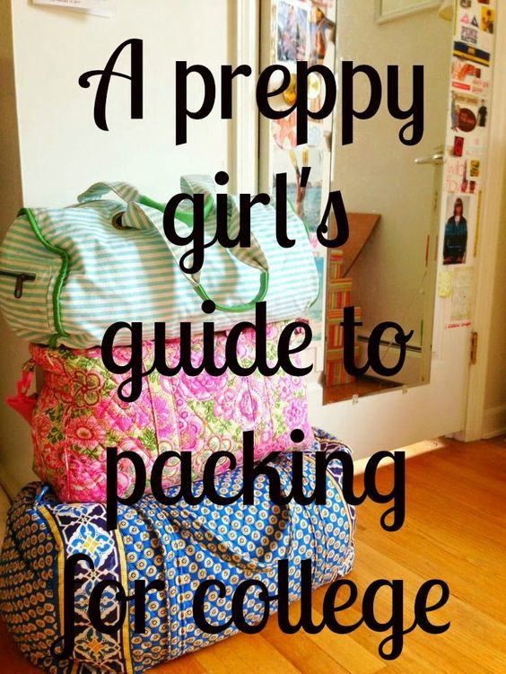 That Preppy College Girl: Preppy Girl Packing List. Detailed list of what to pack for college! #Backtoschool #college