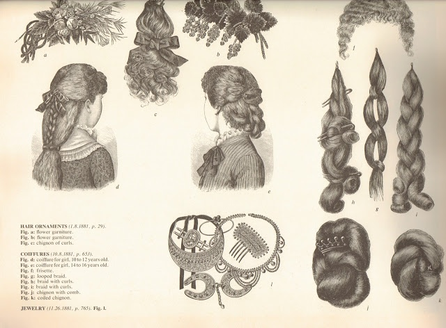 1881 hair pieces.