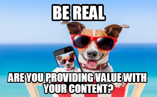 Make your content valuable to others.