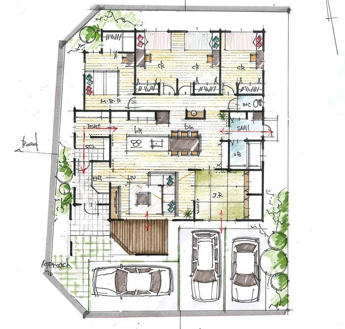 広いldkと和室一体的に計画した平屋 間取り 平屋 4ldk 間取り 平屋