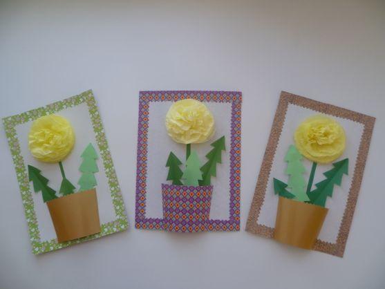 Мастер-класс по изготовлению праздничной открытки для мамы «Нежный цветочек» Фото