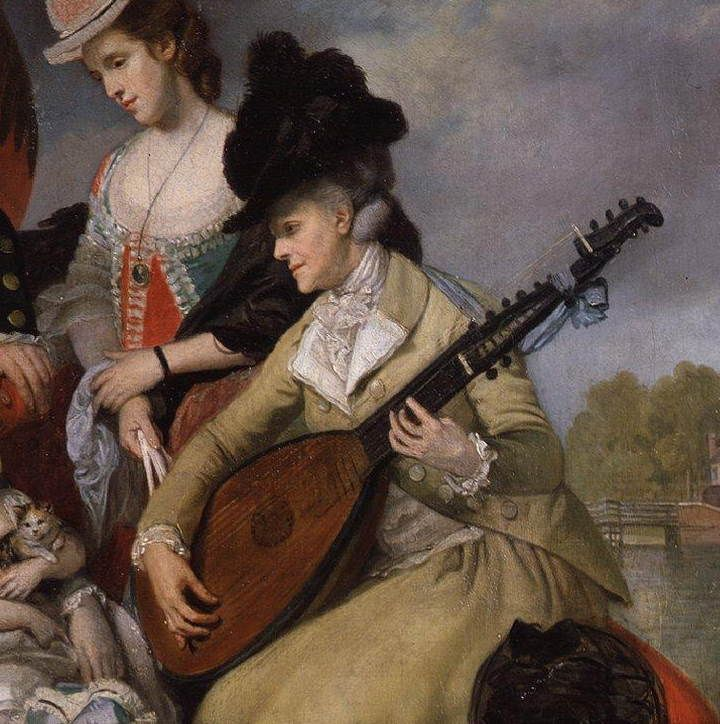 Johann Zoffany (German,1733-1810) ~ The Sharp Family (detail, 1781) ~ oil on canvas ~ The National Portrait Gallery ~ Johann Zoffany, Zoffani or Zauffelij RA was a German neoclassical painter, active mainly in England. His works appear in many prominent British National galleries such as the National Gallery, London, the Tate Gallery and in the Royal Collection.