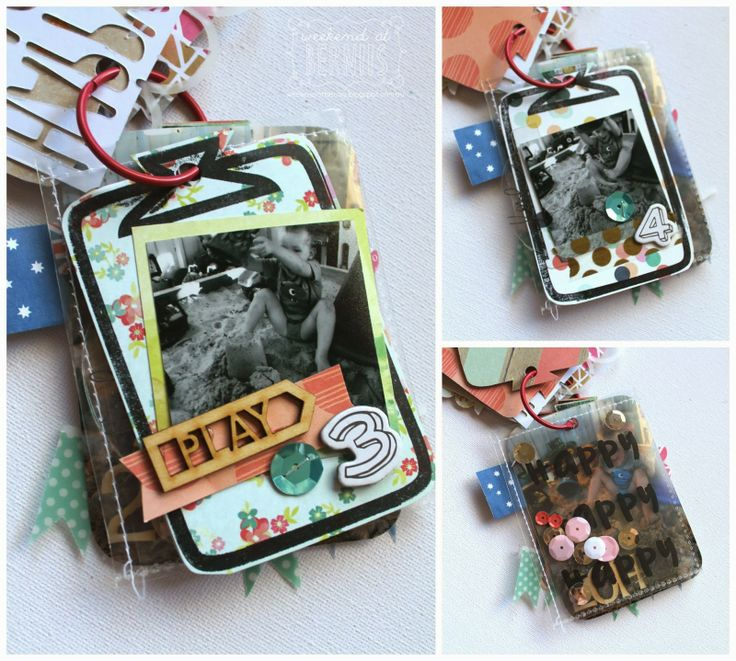 Mini Album by Bernii Miller, made using leftovers from Polly! Scrap Kits January Almond Biscotti kit