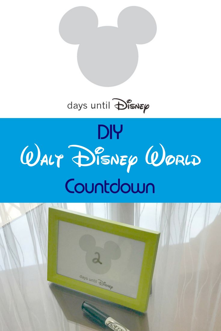 This easy DIY Disney World Countdown for preschoolers is the perfect way to count those days until your next Disney World family vacation.