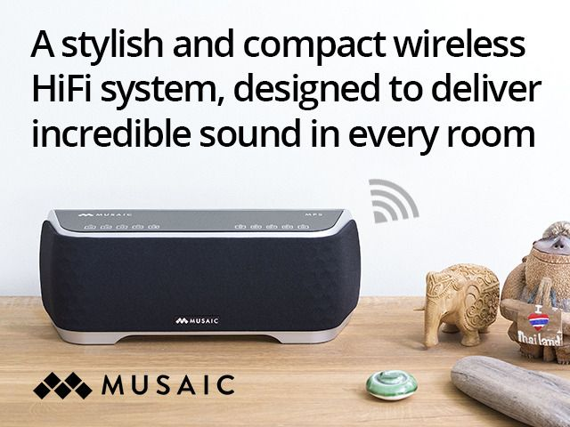 Musaic Wireless HiFi Music System - Your music, Your way. by Musaic — Kickstarter. maybe for my new place