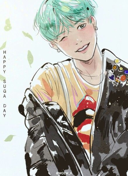 Jin Bts Cute Wallpaper Suga Fanart Random K Idols Wallpaper Amp Art Bts