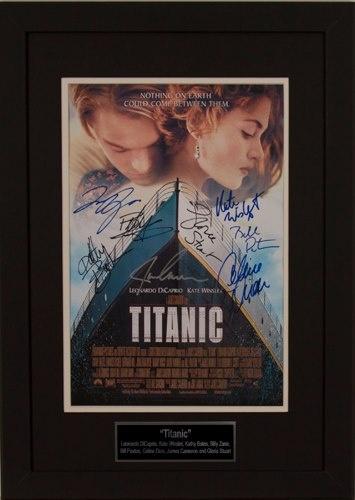 Titanic  Leonardo DiCaprio, Kate Winslet, Kathy Bates, Billy Zane, Bill Paxton, Celine Dion, James Cameron and Gloria Stuart