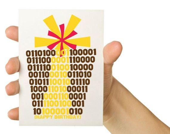 Shoply.com -Binary Happy Birthday 8 X 5.5 Greeting Card. Only $3.50