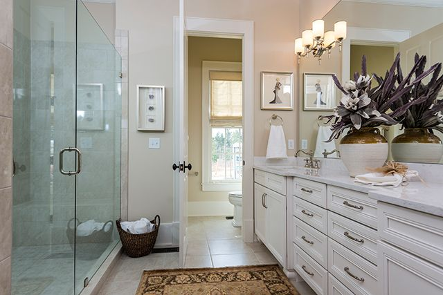 All american cottage master bath plan 1837 for Southern bathroom ideas