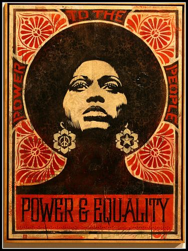 Shepard Fairey - Power and Equality.