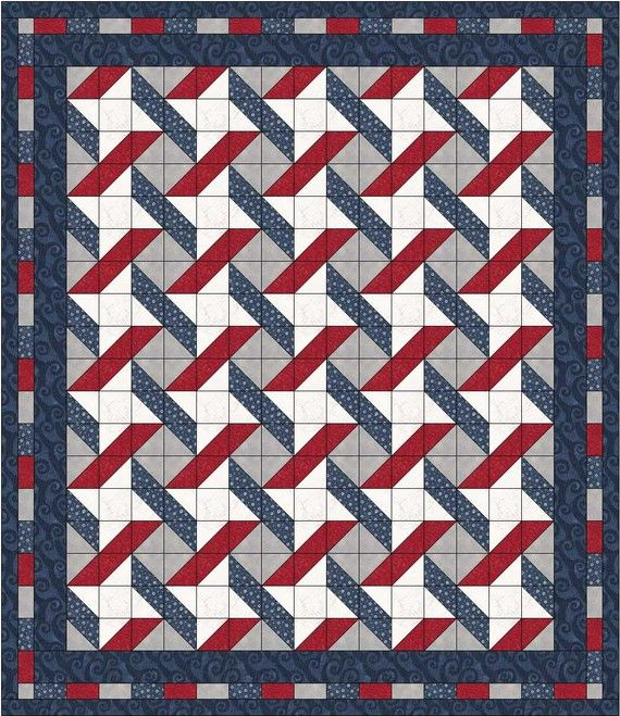 NEW Stars and Stripes Quilt Pattern five one-yard cuts FREE Shipping