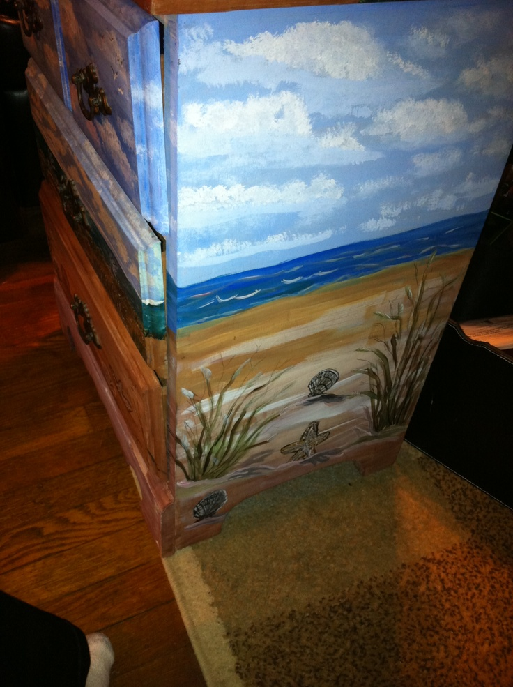 1000 Images About Beach Scene Painted Furniture On