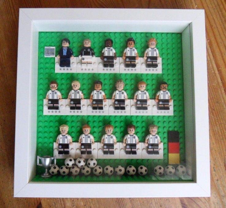 LEGO MINIFIGUREN im Rahmen Komplett 71014 DfB DIE MANNSCHAFT Fußball Unbespielt | eBay