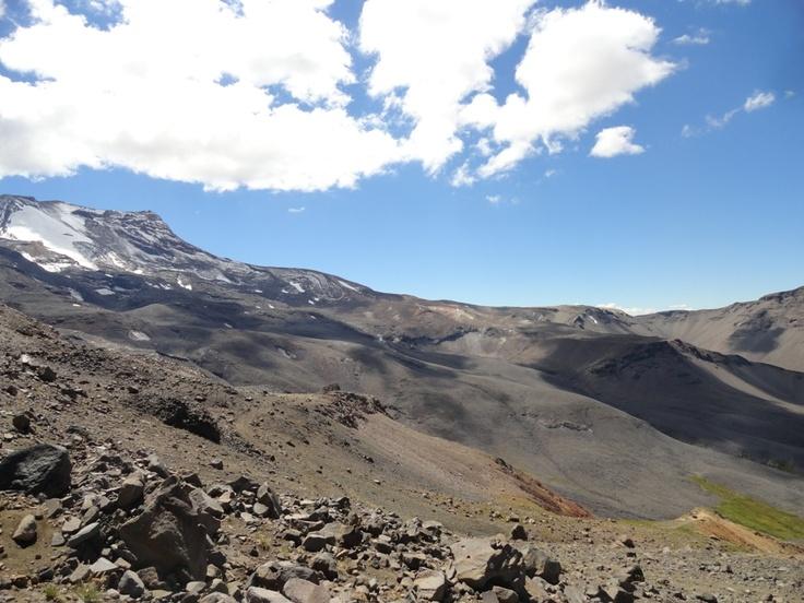 Mirando hacia el norte se podía ver el Volcán.