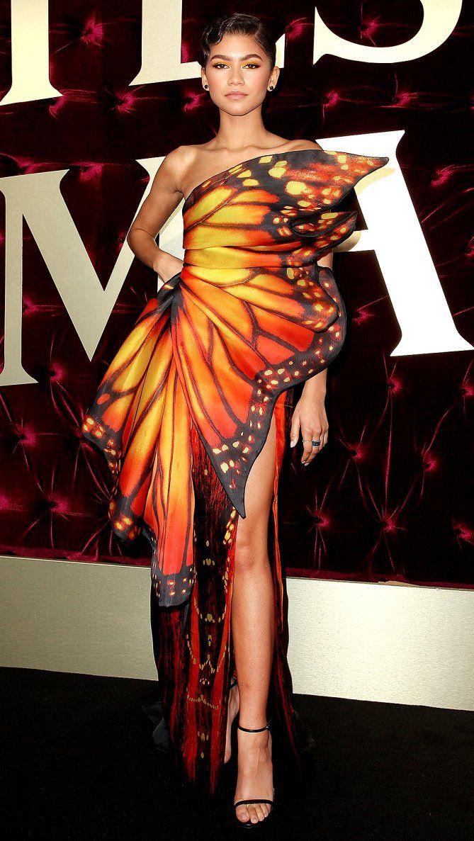 Zendaya in a Moschino butterfly dress