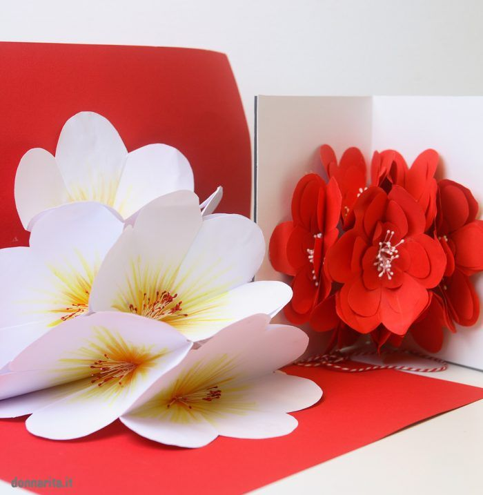 Открытка внутри цветы видео