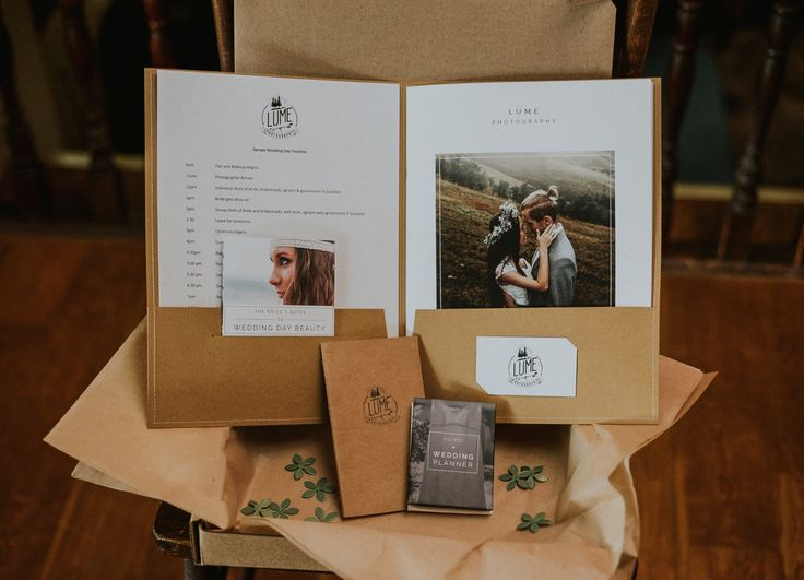 "I've been working on putting together a branded Wedding Welcome Packet for some time now, and I am really liking the finished product! It's a nice ""thank you"" gift and packet of information that I'm sending to all the couples who book me for their wedding. If you're a photog and want to know about…"