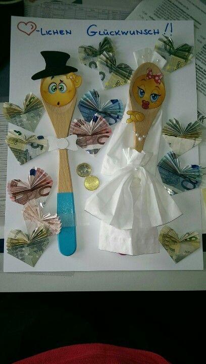 Idee für ein Geldgeschenk zur Hochzeit #Hochzeit #Koch #Geldgeschenk