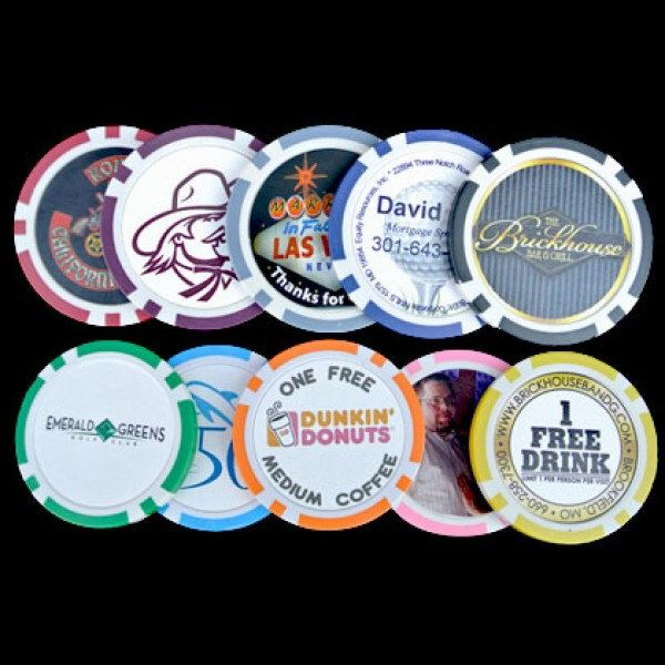 Custom Poker Chips as business promotions, wedding favors and more by CustomMadeCasino on Etsy https://www.etsy.com/listing/163250146/custom-poker-chips-as-business