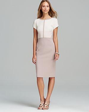 Basler Short Sleeve Colorblock Dress
