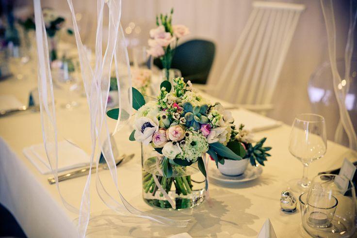 Výzdoba svatebního stolu - realizace Jedinečná svatba & DECSTORE