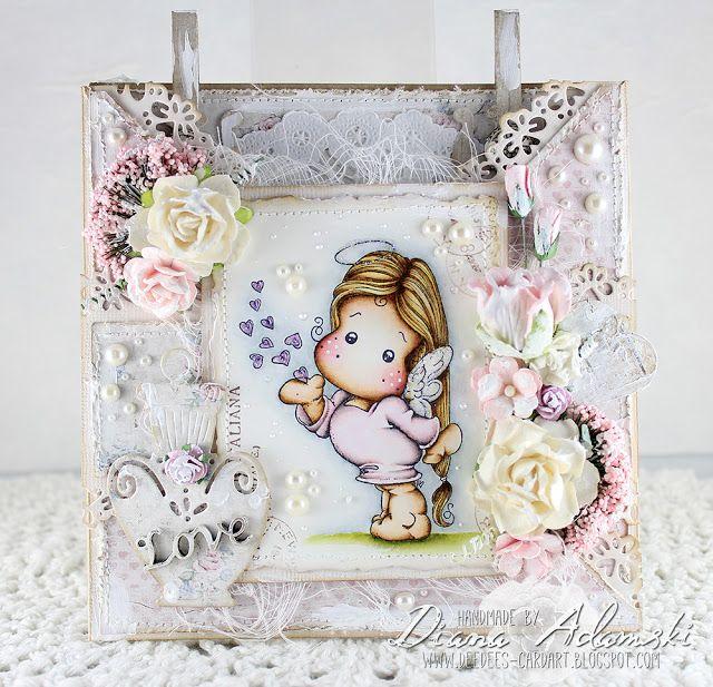 DeeDee´s Card Art - Miss You Tilda - Magnolia, Papers - MajaDesign, Embellishments - Live & Love Crafts