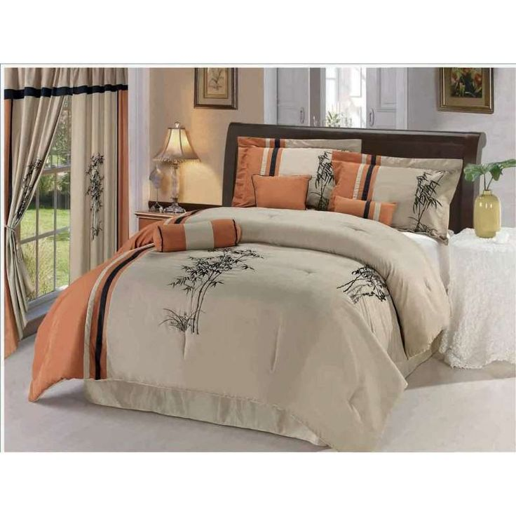 Fall color comforters home ideas for Spring hill designs bedroom furniture