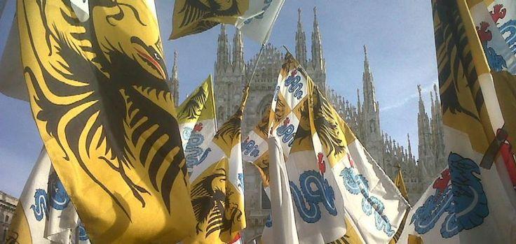 Sventola il vessillo insubre in piazza Duomo!