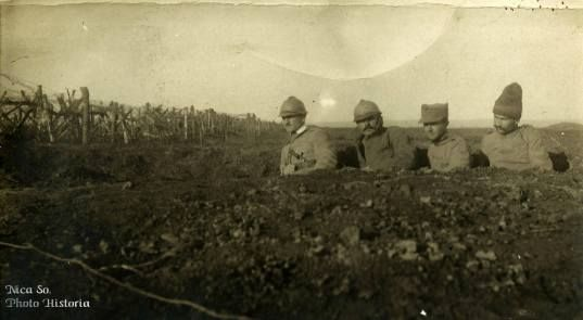 WW1, Romanian soldiers on the Marasesti war front.