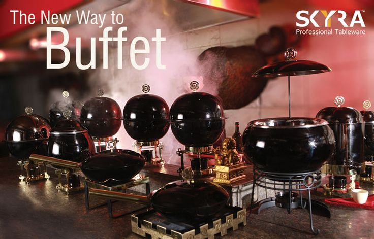 The China Town Chafing Dishes are built to differentiate Pan-Asian cuisine from the rest of the buffet. This sleek metallic black range will add to your decor and your service.   Above Buffet Setup is Available at a Special Offer price of Rs. 59,999/-(till stocks last).