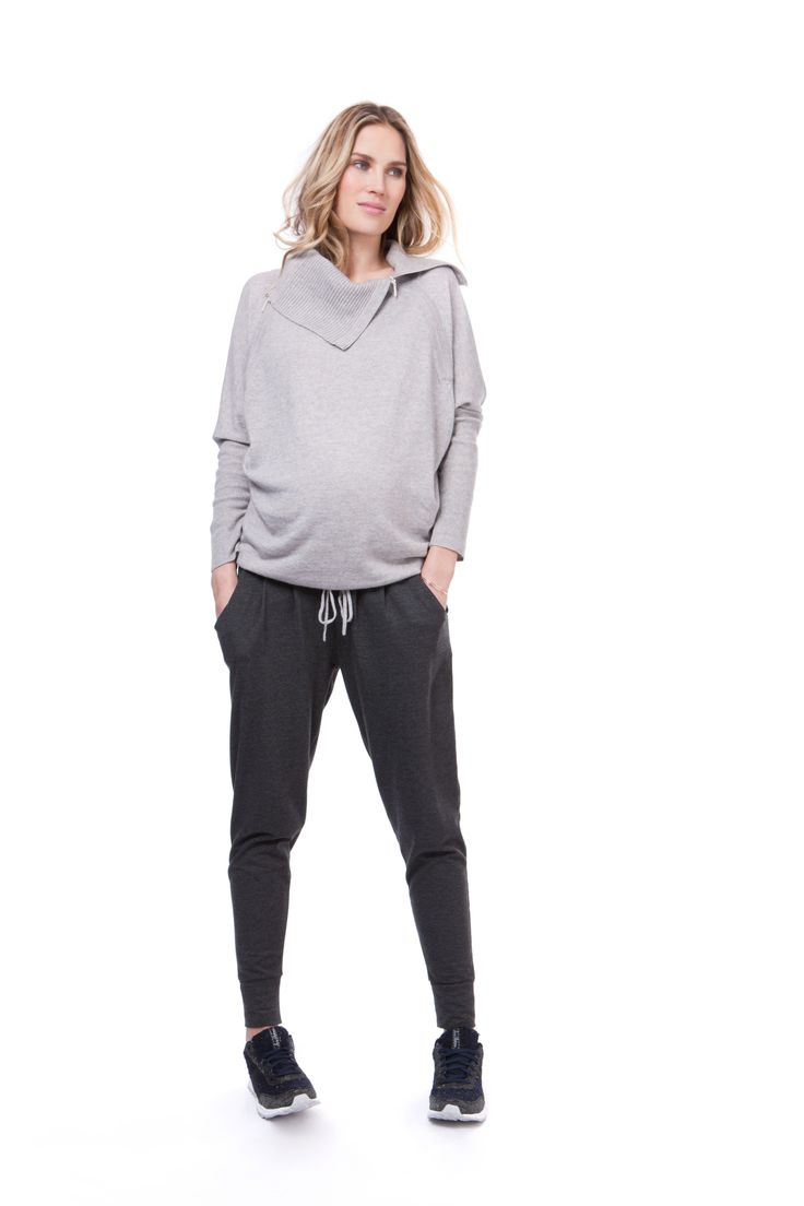 Cozy up for fall with this Seraphine nursing sweater #cozy #fallfashion #maternitystyle #maternity #nursing #breastfeeding #seraphine