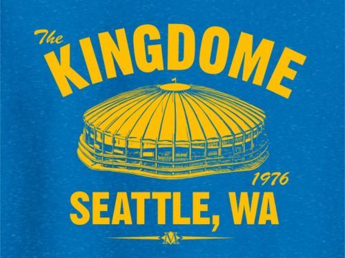 The Kingdome 1976 Baseball Tee Shirt Seattle Mariners MLB Vintage | eBay