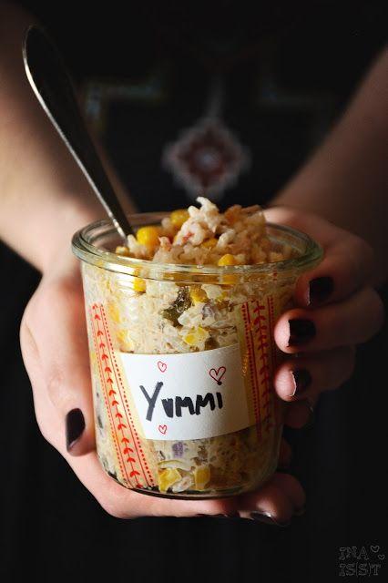 Schneller Reissalat mit Thunfisch und Mais