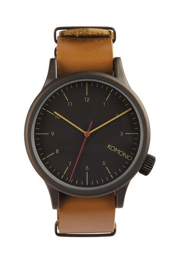 We all know how to improve a black coffee - you add a healthy splash of Cognac. To improve a black watch, you do exactly the same. Introducing the black on tan Magnus watch from Komono, boasting a stealthy black main with a Cognac coloured leather strap, it's one swish beast. The moral of this story? Always add Cognac.