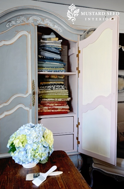 96 best images about chalk paint armoire on pinterest - Mustard seed interiors ...