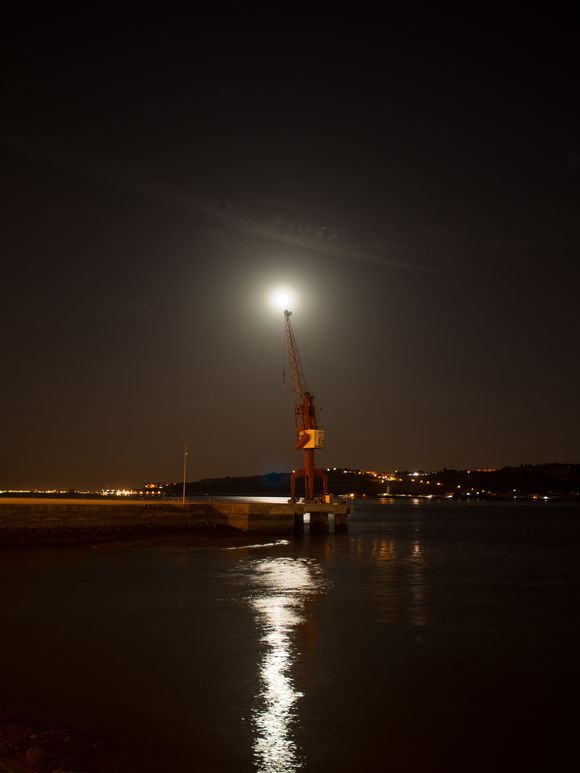 the crane and the moon