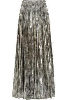 Lanvin | Printed silk-blend lamé maxi