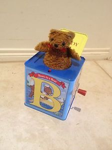 Teddy Bear Jack IN THE BOX TOY Musical Wind UP Great Toddler Christmas Present in VIC | eBay