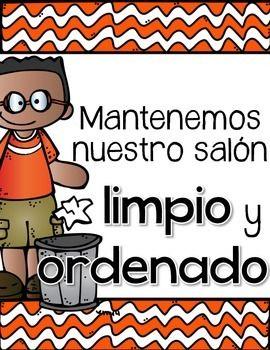 Classroom Rules Spanish - Reglas del Salon