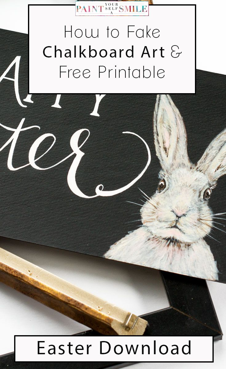Get all the shortcuts to creating chalkboard Art! & Free Happy Easter Art