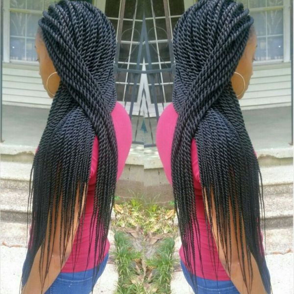 Medium Senegalese Twists With Color How to do havana twists - video ...