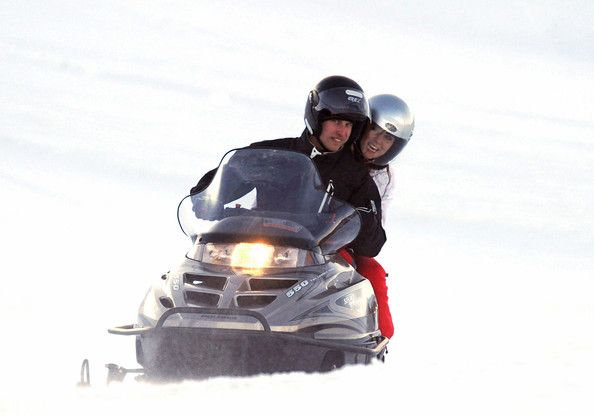 March, 2010 - Prince William and girlfriend Kate Middleton vacation in the French Alps with Kate's sister Pippa and some friends.
