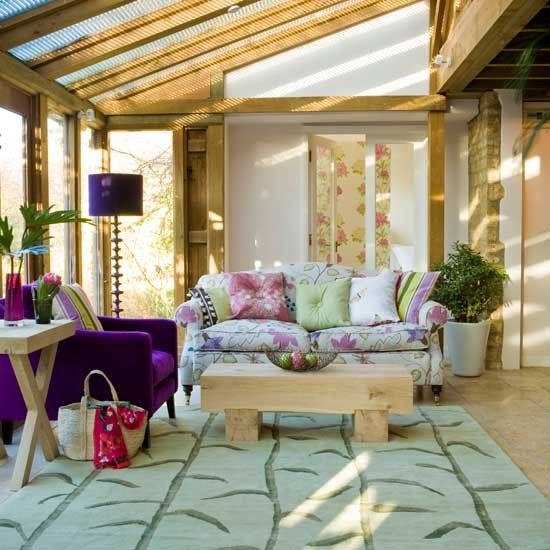 Purple accents conservatory