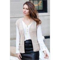 Roma Ribbed Vest with Pockets in Zara 14 and Zara 8 | InterweaveStore.com