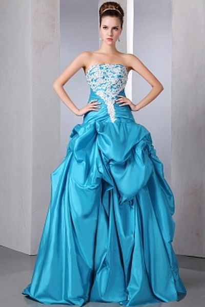 Blue Modern Ball Gown prom Gown - Order Link: http://www.thebridalgowns.com/blue-modern-ball-gown-prom-gown-tbg7438 - SILHOUETTE: Ball Gown; SLEEVE: Sleeveless; LENGTH: Sweep/Brush Train; FABRIC: Chiffon; EMBELLISHMENTS: Beading , Draped , Ruched , Sequin - Price: 191USD